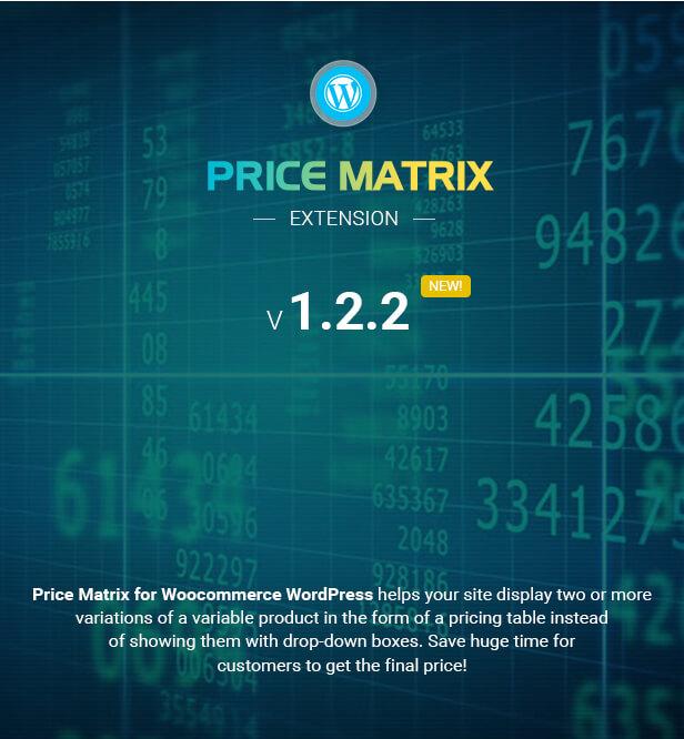 Matriz de preços de tabela flexível para WooCommerce - 5