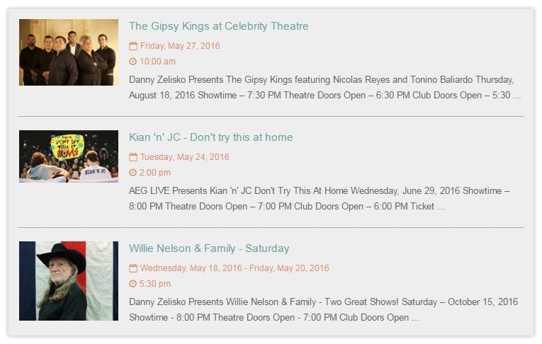 Tiva Events Calendar - Events List