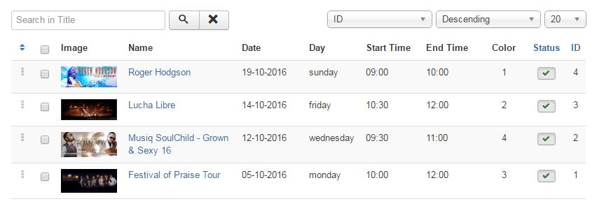 Tiva Timetable Admin