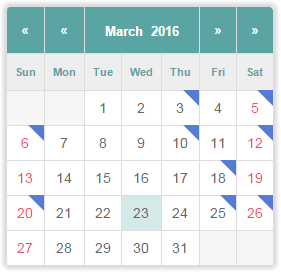 Facebook Events Calendar - Compact Layout