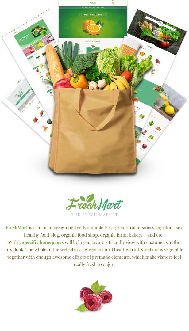 Freshmart - Organic Food Joomla Template