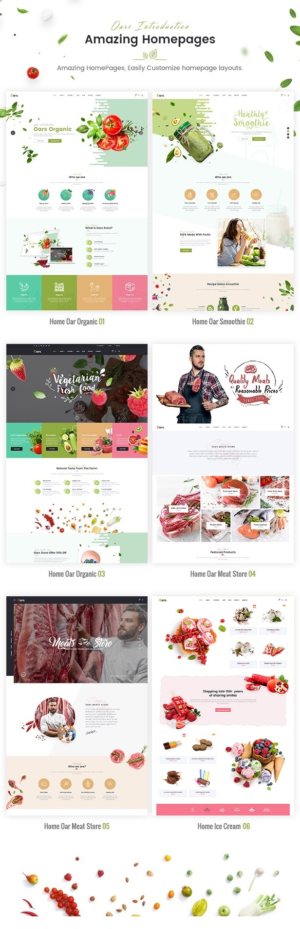 Oars - Creative Organic Store & Fresh Food Joomla Template