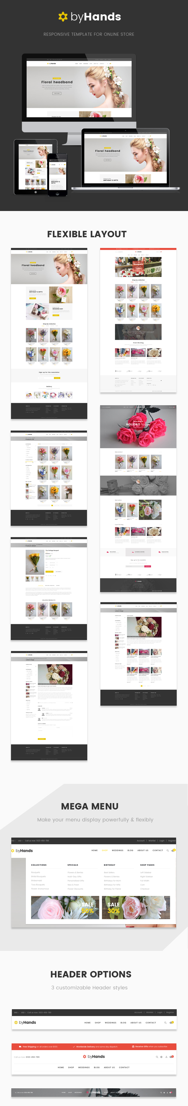 ByHands - Flower Store WooCommerce Theme