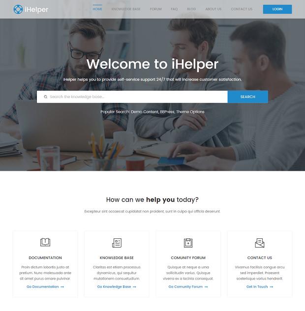 iHelper - Helpdesk and Knowledge Base HTML Template