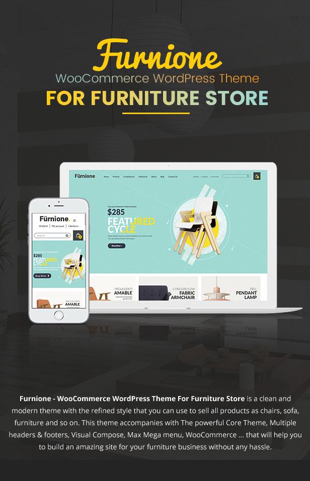 Furone Furniture Woocommerce Wordpress Theme Retail Themeforest New Items Howldb