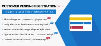 Customer Pending Registration Magento Extension - MageBuzz