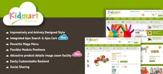 Joomla Kid Shop Virtuemart Template