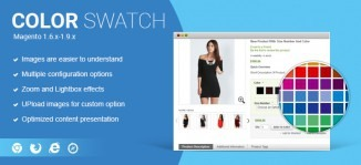 Magento Color Swatch Extension With Zoom